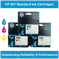 HP 951 Standard Ink Cartridges (Cyan, Magenta, Yellow), Retail Box, EXP 2020