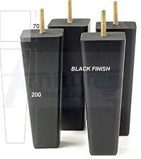 4x in legno piedi di ricambio per gambe MOBILI SEDIE DIVANI LETTI 200 mm Alto M10