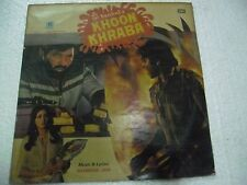 KHOON KHRABA RAVINDRA JAIN 1979  RARE LP RECORD orig BOLLYWOOD VINYL india EX