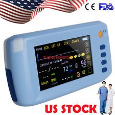 51 Palm Patient Monitor Vital Signs Ecg Nibp Spo2 Sensor Touch Screen Monitor