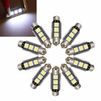 10X 39mm 3LED 5050 SMD C5W CANBUS Error Free Festoon Dome Light Lamp Bulbs CTF