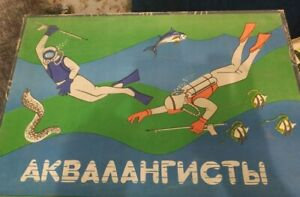 Vintage board game Scuba diver Ussr Soviet Russian toy