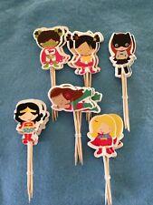 Cupcake Cake Toppers Superhero Girls 24pcs