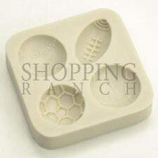 Balls of Sport Silicone Mould for Party Cupcake Toppers and Decorations