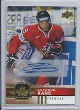 2017-18 Evander Kane Canadian Tire UD Signatures Gold Auto #40 Mint