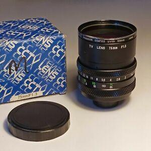 Obiettivo TV Lens CCTV C-Mount 75mm f:1.3 Made in Japan - Navitar