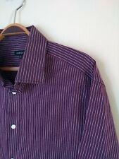 "Stunning Men's Jaeger Long Sleeve Shirt. Large 48""  Chest. Purple Pinstripe."
