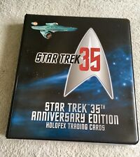 Star Trek 35th Anniversary Holofex Trading Cards Set (sketch, Autographs)