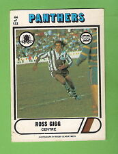 1976  PENRITH PANTHERS  SCANLENS  RUGBY LEAGUE CARD #64.  ROSS GIGG