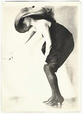Vintage 1910s Flirty Model in Heels Charles Sheldon Fox Shoes Advert. Photograph