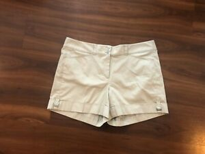 FI5 WHITE HOUSE BLACK MARKET Summer Vacation SIZE 14 Sateen Shell SHORTS NWT