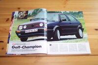 Autozeitung 12293) Der Übergolf! VW Golf GTI G60 mit 160PS in einer ersten Vor