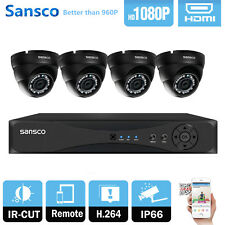 4CH Full 1080P HDMI DVR+4x 2MP HD IR Waterproof Camera CCTV Home Security System
