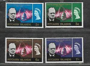 PITCAIRN ISLANDS STAMPS #56-59 SET OF 4 (HINGED) FROM 1966