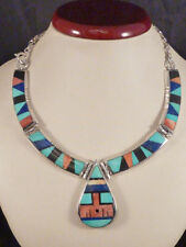 Halsketten und Anhänger mit Onyx Echtschmuck im Collier-Stil aus Sterlingsilber