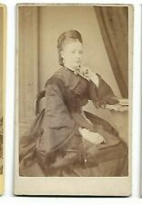Victorian dress with fringe - Photo by S Walker & Son, Cambridge Heath  (4774)
