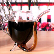 300ml Red Wine Glass Vampire Devil Mug Cup With Built in Drinking Tube Straw