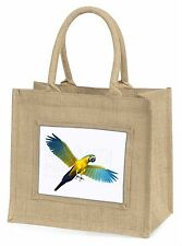 In-Flight Flying Parrot Large Natural Jute Shopping Bag Christmas Gif, AB-PA9BLN