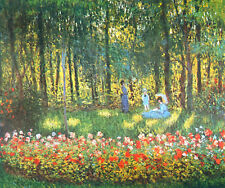 "Handmade Floral Oil Painting repro Claude Monet - The Artist's Family 20""x24"""
