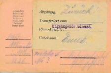 NR.19319 Postkarte K.u.K. Feldpost  ZURÜCK  ENNS  O.Ö. 1916