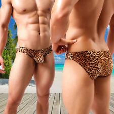 Herren Sexy Leopard Boxer Slips Shorts Unterwäsche Unterhosen Bulge/Pouch,Deko