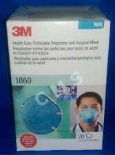 3M N95 Health Care Particulate Respirator Surgical Molded Face Mask 20/Bx 1860