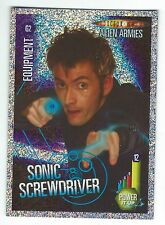 Doctor Who Alien Armies Glitter Chase Card G2 Sonic Screwdriver Panini Good