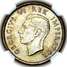 More details for top pop 1937 george vi south africa silver florin 2 shillings 2s km 29 ngc ms65
