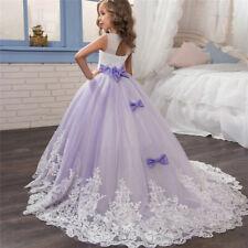 Flower Gir Party Dress Kids Girls Wedding Gown Children Lace Princess Clothes