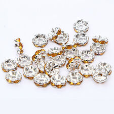 NEW 20pcs 8MM Plated silver crystal spacer beads Findings B&62 FREE SHIPPING