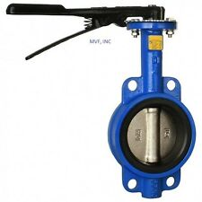 """BUTTERFLY VALVE 2"""" WAFER STYLE 200 WOG DUCTILE BODY BRONZE DISC BUNA RUBBER SEAT"""
