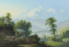 """perfect oil painting handpainted on canvas """"The beauty of the mountains"""" NO8566"""