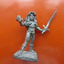 Dragonlance Laurana female fighter elf metal Ral Partha solid base ad&d NO staff