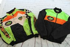 Vintage ARCTIC CAT RACING Snowmobile Zip Embroidered Jacket W/ Liner Medium