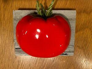 Original Carol Cline Ceramic Hand Sculpted Red Tomato Veg/Fruit NEW