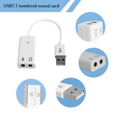 1Pc USB 2.0 Earphone Stereo Sound Card Audio Adapter For Laptop PC Computer Part