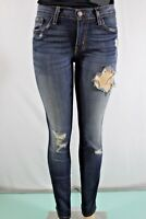 FLYING MONKEY NEW WOMENS LOVED DESTROYED SKINNY JEANS SZ 27 BLUE