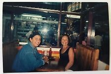 Vintage 90s PHOTO Two Women Sitting At A Mexican Restaurant Booth In Cost Rica