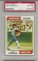 SET BREAK - 1974 TOPPS #542 RICH GOSSAGE, PSA 8 NM-MT, HOF, 2ND YEAR, CENTERED