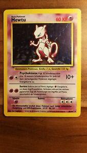 Mewtu (Mewtwo) 10/102 Rare Base set German Holographic Pokémon TCG