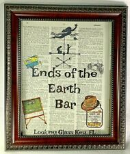 """""""The Finder"""" TV Show Inspired Dictionary Print Art Text """"Ends of the Earth Bar"""""""