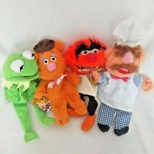 Disney The Muppets Kermit Chef ANIMAL Fozzie Bear Hand Puppet Plush Toy 4PCS