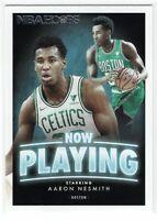 2020-21 Panini NBA Hoops Aaron Nesmith Rookie RC Now Playing Insert Celtics