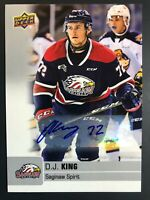 2019-20 Upper Deck CHL D.J. King Auto