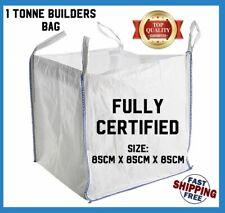 More details for 1 tonne fibc dumpy jumbo bags builders garden rubble aggregate sack white 1000kg