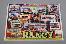 ZC3909 Momaco 1/43 brochure vehicule miniature camion cirque rancy 2014 30x21cm
