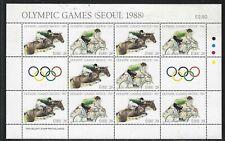 1988 Ireland Scott #712-713 - Seoul Olympic Games Miniature Sheet - MNH