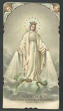 Estampa antigua Virgen Milagrosa andachtsbild santino holy card santini