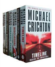 Michael Crichton 6 Books Thriller Congo Disclosure Timeline Jurassic Park New