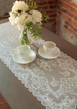 """Heritage Lace 14""""x 54"""" FILIGREE White Table Runner"""